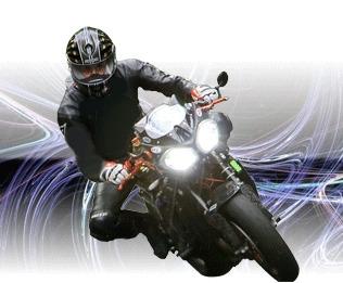 Feux xenon sur moto